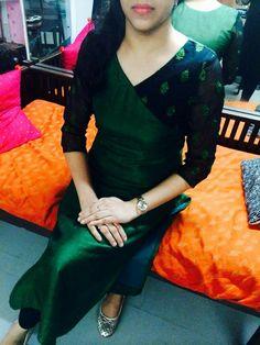 Similar to bandhini dupatta Salwar Neck Designs, Kurta Designs Women, Dress Neck Designs, Blouse Designs, Salwar Pattern, Kurta Patterns, Dress Patterns, Ethnic Fashion, Indian Fashion