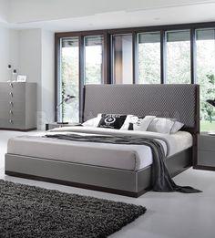 Sorrento Platform Bed in Grey by J&M