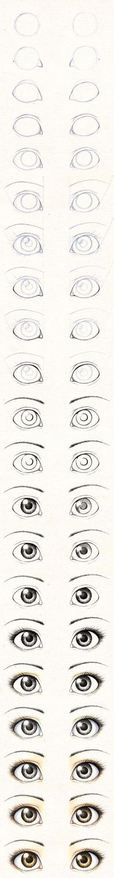 Guía para aprender a dibujar los ojos de las muñecas. | PatronesMil:
