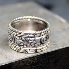 Sterling+Silver+Stacking+Rings++Set+of+five+by+LoreleyJewelry,+$58.00