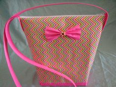Pink Orange Green ZigZag Duct Tape Purse with by MintyPrincess