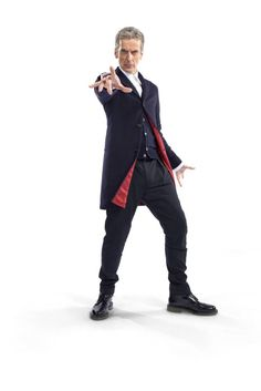 New #DoctorWho outfit revealed. Capaldi's outfit looking extra dapper with our Merino cardigan Cavendish in Midnight. Grab the Doctor's look here  www.johnsmedley.com