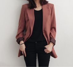Korean Fashion Trends you can Steal – Designer Fashion Tips Classy Outfits, Casual Outfits, Vintage Outfits, Cute Outfits, Fashion Outfits, Fashion Clothes, Jackets Fashion, Work Fashion, Daily Fashion