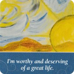 """""""I am worthy and deserving of a great life."""" #mondayaffirmation #siimplyhealed"""