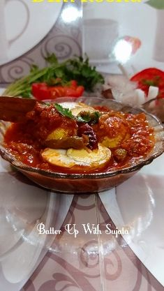 Dim Kosha Or Spicy Egg Curry With Thick Gravy – Batter Up With Sujata Egg Curry, Steamed Rice, Naan, Egg Recipes, Gravy, Chili, Fries, Spicy, Soup