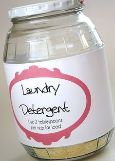 Homemade Laundry Detergent Tutorial
