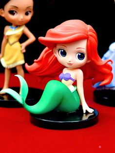 Banpresto Q Posket Disney Characters Petit Vol 2 Figure The Little Mermaid Ariel Polymer Clay Figures, Cute Polymer Clay, Polymer Clay Dolls, Polymer Clay Crafts, Cute Disney, Disney Art, Esmeralda Disney, Crea Fimo, Mermaid Cakes