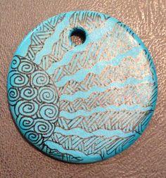 Zentangle Sun Pendant. Combine with next texture one.