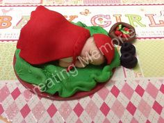 Little Red Riding Hood Fondant  cake Topper /BABY SHOWER/Edible Cake Topper/Cake supplies