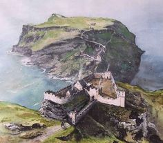 Mike Rollins - Medieval Tintagel Castle, Cornwall