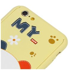 """Cat Toys Christmas - iPhone 6 Plus Case, GIZEE Cute Cartoon Full Body Coverage Protection Case with Tempered Glass Screen Protector for iPhone 6 Plus 5.5"""" (Bear, Yellow) >>> You can find out more details at the link of the image. (This is an affiliate link) #CatToysChristmas"""