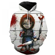 Horror Movie Chucky Hoodies Style Men Brand Fashion 3d Print Pattern Sweatshirts Autumn Long Sleeve Hip Hop Pullover Plus Size Price: 17.18 & FREE Shipping #hashtag2 Trendy Hoodies, Comfy Hoodies, Sweat Shirt, Video Sport, Fashion Brand, Mens Fashion, Chucky, Sweater Hoodie, Sweatshirts