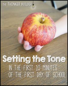 You CAN set a calm, positive, hard-working classroom tone right away--like literally, in the first ten minutes of the first day of school! Come read how. (The Thinker Builder) First Day Of School Activities, 1st Day Of School, Beginning Of The School Year, School Days, School Stuff, Starting School, School 2017, School Starts, Middle School Reading