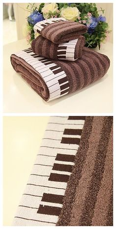 Piano Pattern wash towel, get ready for your new school year! #backtoschool. Click to enjoy our Back-To-School Sales and get your secret coupon up to $50 until 18th Aug.