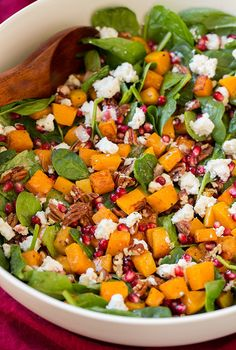 Butternut Squash, Pomegranate and Goat's Cheese Salad