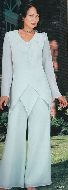dressy pant suits for weddings women's | Misty Lane outfits run large.