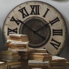 Industrial Clock from Provincial Home Living #industrialrevolution