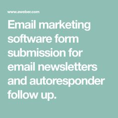 Email marketing software form submission for email newsletters and autoresponder follow up. Free Iphone Giveaway, Email Marketing Software, Email Newsletters, Classroom Management, Learning Activities, Submissive, How To Make Money, How To Plan, Crochet Baby