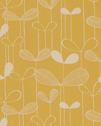 Tapet Saplings Sunflower Yellow/White från MissPrint
