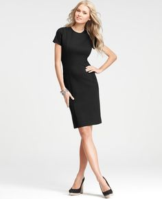 The ever-popular sheath updated with strikingly feminine side panel seams for a more feminine silhouette.