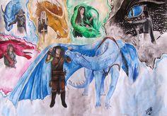 Dragon riders by Rthyin
