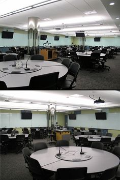 University of Minnesota Active Learning Classroom - mics allow students to be heard all over the room