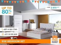 The set comes also two nightstands with two drawers each, two-door wardrobe with mirror, and a dresser with four drawers. Add high quality and high elegance to Your room with this stylish and unique bedroom set – Ege. More details: http://gtfshop.com/ege-bedroom-set