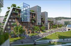 Ville du futur: l'architecte Vincent Callebaut imagine l'avenir avec son projet de quartier autosuffisant