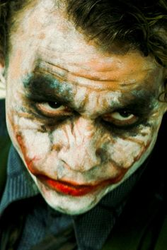 Heath Ledger as the Joker in The Dark Knight.