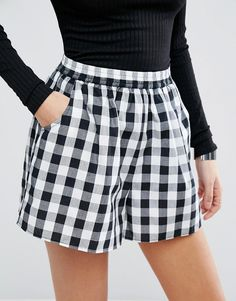 Gingham Culotte Shorts
