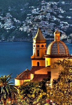 View of Positano from Praiano province of Salerno Campania