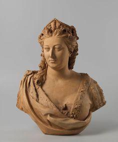 A terracotta bust of Queen Caroline by Michael Rysbrack in the Rijksmuseum. Amsterdam.