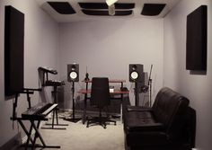 The Attic is a private production room located on the second floor of the 17 Hertz Studio facility.
