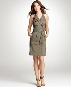 Really into trench coat dresses right now ... saving up my dough for a ModCloth version!