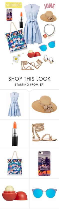 """""""Summer June"""" by luisferni-1988 ❤ liked on Polyvore featuring Chicwish, MAC Cosmetics, Superdry, Casetify, Eos and Matthew Williamson"""