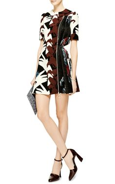 Embellished Printed Side-Pleated Dress by Carven - Moda Operandi