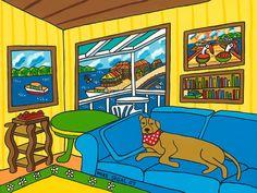 Cedar Key Snoozer Painting