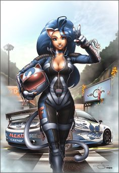 "Felicia DS Tribute by Omar-Dogan -""So here we have my favourite DS character Felicia as a D1GP racer."""