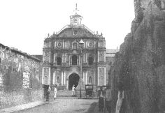 """Church at Malolos, Island of Luzon """"This church was fortified and used as a prison by the Filipinos during their occupancy of Malolos. Philippine Architecture, Treaty Of Paris, The Spanish American War, Old Buildings, Manila, Prison, Philippines, United States, Island"""