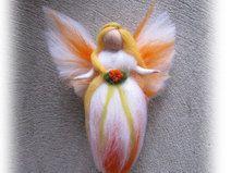 Schutzengel orange,  Märchenwolle, Wolle Engel