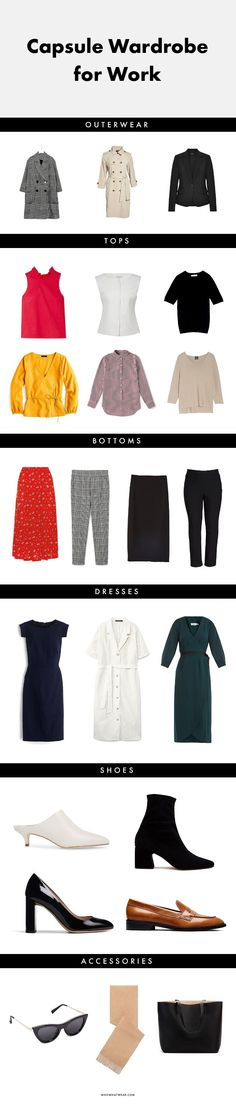 This 23-Piece Capsule Wardrobe for Work Will Change Your Life via @WhoWhatWearUK