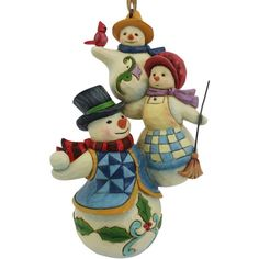 Jim Shore Stacked Snowman Family Hanging Ornament ($22) ❤ liked on Polyvore featuring home, home decor, holiday decorations, multi, folk art, snowman holiday decor, jim shore, jim shore ornaments and inspirational home decor