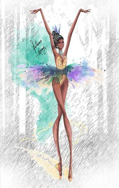 Disney Princesses Ballet Classics: Pocahontas by Guillermo Meraz Fashion Illustration