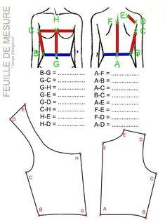DIY : Patron de corsage gratuit / Free century bodice pattern (Temps d'… Couture Vintage, Diy Couture, Techniques Couture, Sewing Techniques, Costume Patterns, Dress Patterns, Fashion Sewing, Diy Fashion, Sewing Patterns Free