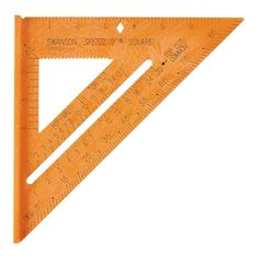 Shop Swanson Tool Company Orange Speedlite Square at Lowe's Canada. Building A Pole Barn, Mitered Square, Speed Square, Plastic Tags, Protractor, Ace Hardware, Metal, Composition