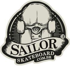 Adesivo #SailorSkateboard - Institucional
