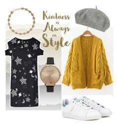 """☀️✨"" by nathfromamsterdam ❤ liked on Polyvore featuring York Wallcoverings, WithChic, Topshop, adidas, Olivia Burton and Sixtrees"