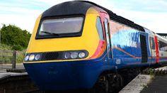 Class 43 Intercity 125 train at Wellingborough station. Electric Train, British Rail, Speed Training, Power Cars, Electric Locomotive, Train Travel, Toys For Boys, Diesel, Britain Uk