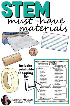 Top 5 STEM Challenge Materials You Need - momgineer Steam Activities, Science Activities, Science Experiments, Science Ideas, Science Lessons, Teaching Science, Science Education, Stem Learning, Project Based Learning
