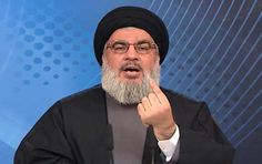 "Hezbollah's leader declares ""US responsible for crimes being committed in Palestine"""
